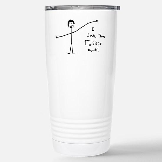 'I Love You' Stainless Steel Travel Mug