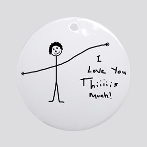 'I Love You' Ornament (Round)