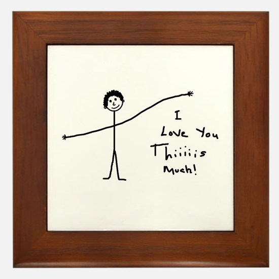 'I Love You' Framed Tile