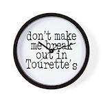 Tourette's Wall Clock