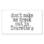 Tourette's Rectangle Sticker 50 pk)