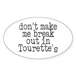 Tourette's Oval Sticker