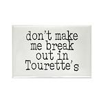 Tourette's Rectangle Magnet (100 pack)