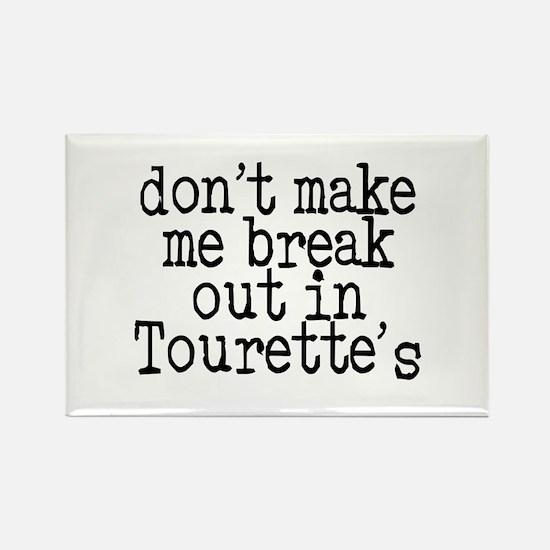 Tourette's Rectangle Magnet