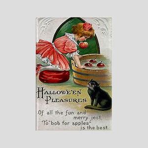 Halloween Bobbing For Apples Rectangle Magnet