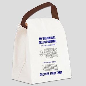 MY BRAINWAVES Canvas Lunch Bag