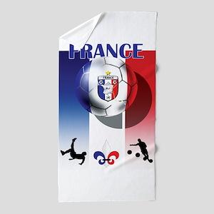 France Football Beach Towel