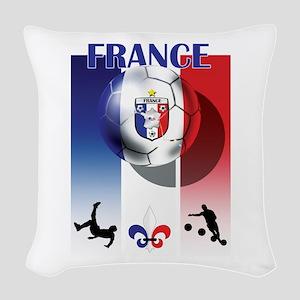 France Football Woven Throw Pillow