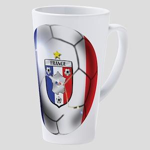 French Soccer Ball 17 Oz Latte Mug