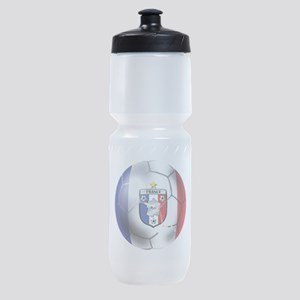French Soccer Ball Sports Bottle