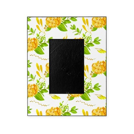 Green and Gold Floral Picture Frame