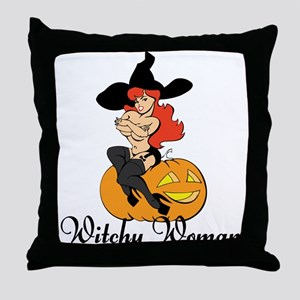 Sexy Witchy Woman Throw Pillow