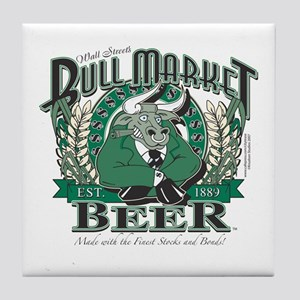 Bull Market Beer Tile Coaster