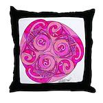 Celtic Rose TriSpiral Throw Pillow