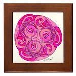 Celtic Rose TriSpiral Framed Tile
