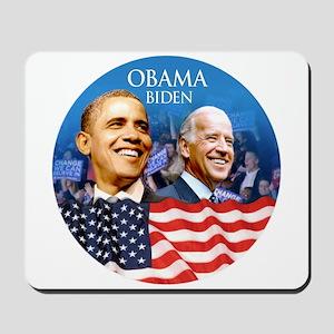 Obama-Biden Flag Blue Back Mousepad