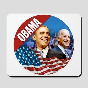 Obama-Biden Flag Red Band Mousepad
