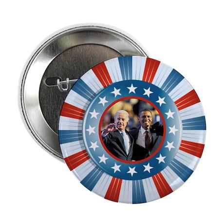 """Obama-Biden Star Bunting 2.25"""" Button (10 pack)"""