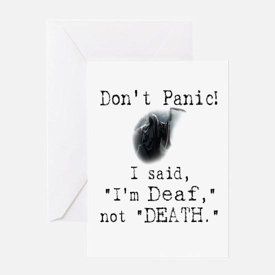 "I'm ""Deaf"" Not ""Death."" Greeting Card"