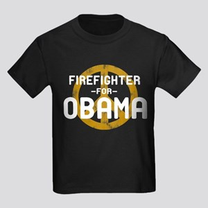 Firefighter for Obama Kids Dark T-Shirt