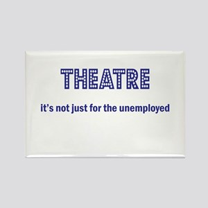 Theatre Unemployed Lights Rectangle Magnet