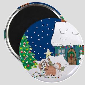Christmas Lights Shihtzu Magnet
