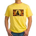 Halloween Omens Yellow T-Shirt