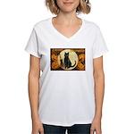 Halloween Omens Women's V-Neck T-Shirt