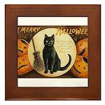 Halloween Omens Framed Tile