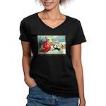 Mischief Witch Women's V-Neck Dark T-Shirt