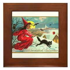 Mischief Witch Framed Tile