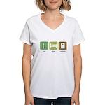 Eat Sleep Cornhole Women's V-Neck T-Shirt