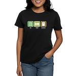Eat Sleep Cornhole Women's Dark T-Shirt