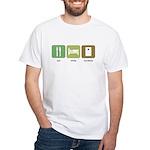 Eat Sleep Cornhole White T-Shirt