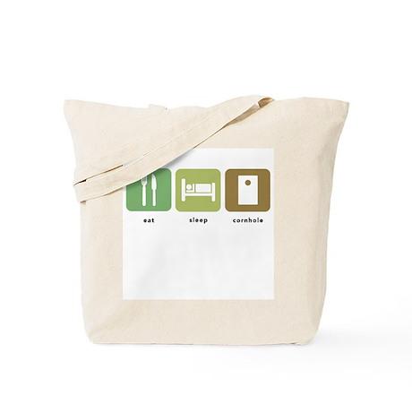 Eat Sleep Cornhole Tote Bag