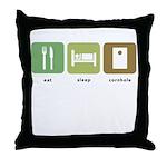 Eat Sleep Cornhole Throw Pillow