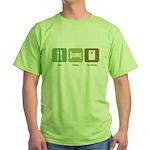 Eat Sleep Cornhole Green T-Shirt
