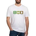 Eat Sleep Cornhole Fitted T-Shirt