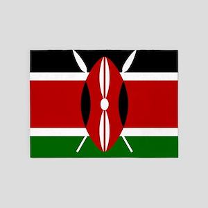 Flag: Kenya 5'x7'Area Rug