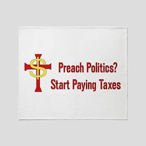 Tax The Churches Throw Blanket