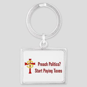 Tax The Churches Keychains