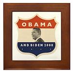 Obama / Biden JFK '60 Shield Framed Tile