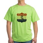 Obama / Biden JFK '60 Shield Green T-Shirt