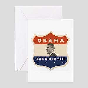 Obama / Biden JFK '60 Shield Greeting Card