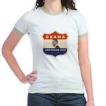 Obama / Biden JFK '60 Shield Jr. Ringer T-Shirt