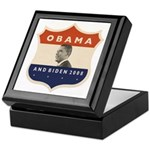 Obama / Biden JFK '60 Shield Keepsake Box