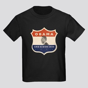 Obama / Biden JFK '60 Shield Kids Dark T-Shirt
