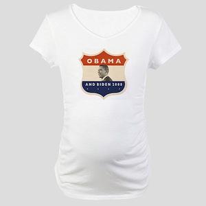 Obama / Biden JFK '60 Shield Maternity T-Shirt