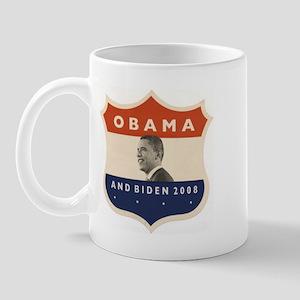 Obama / Biden JFK '60 Shield Mug