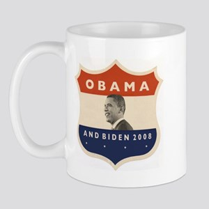 Obama / Biden JFK '60 Shield Mug